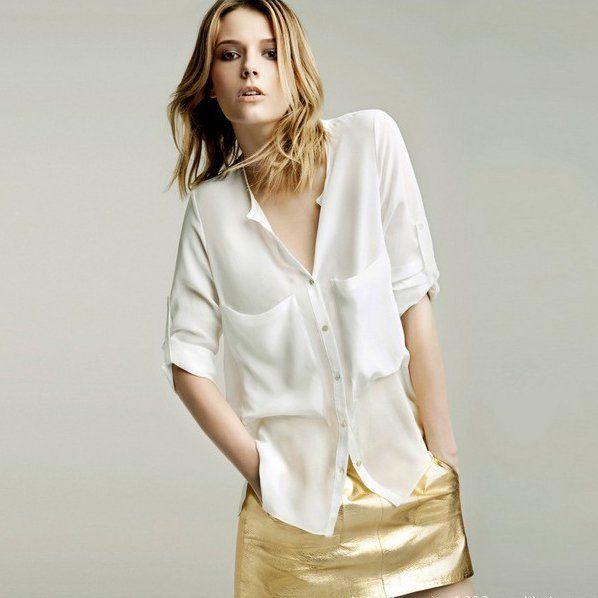 fb5b1669ef1 Белые блузки так же отлично смотрятся с джинсовой одеждой