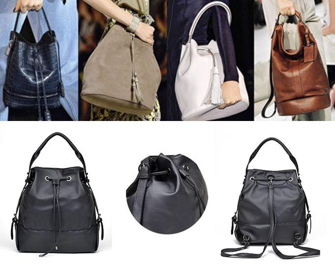 Брендовые модные сумки-мешки выполнены из трех основных материалов  50e5ac7371e